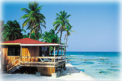 Blue Marlin Lodge on Southwater Caye, southern barrier reef, Belize