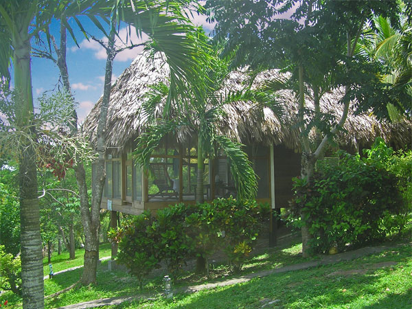 Cahal Pech Village, located in the rainforest area of Western Belize,  with its thatched-roof cabanas offers easy access to the Mayan cities in Belize and the tropical jungle in Belize.