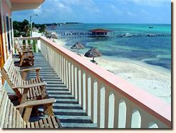 A spectacular, new, third floor, beachfront apartment with three bedrooms and two baths in San Pedro, 