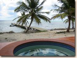 Debbies Beach, A private beachfront villa for vacation rental in San Pedro on the tropical island of Ambergris Caye, Belize