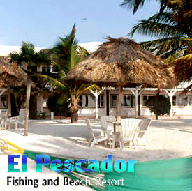 El Pescador is the premier destination in Belize for anglers and divers. Situated on a private beach, this colonial style lodge offers courteous English-speaking guides trained to accomodate every type of angler at every skill level. El Pescador on Belize's historic Ambergris Caye is a colonial style lodge, situated on a private coconut studded beach, slightly isolated and away from the hustle and bustle of crowds yet close enough to San Pedro to enjoy a day shopping or an evening in town.