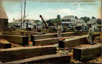 old postcard showing Belize City