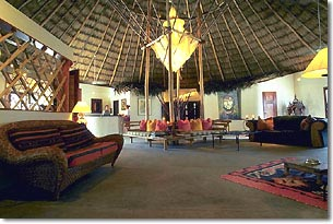 the grand lobby at mata chica beach resort, san pedro, ambergris caye, belize