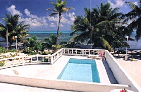 A private beachfront villa for vacation rental in San Pedro on Ambergris Caye, Belize