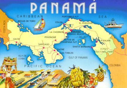 Pin Panama map world now on Pinterest