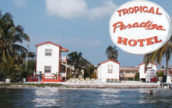 Tropical Paradise Hotel is an inexpensive beachfront resort located on the idyllic little island of Caye Caulke, Belize offering a range of accommodations from beach cabanas to deluxe suites. Ideal for those looking for a relaxing holiday with superb diving and snorkelling on the Belize Barrier Reef.