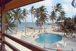 Tropica Beach Resort is located south of San Pedro, on one of the best swimming beaches on the idyllic island of Ambergris Caye, off the Caribbean Coast of Belize. All rooms overlook the ocean.