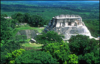 Xunantunich mayan temple, cayo district of Belize, Central America